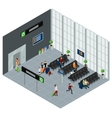 People In Airport Isometric vector image