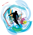 Skiing vector image
