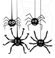 spiders and web vector image