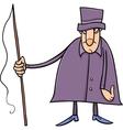 coachman character cartoon vector image