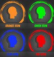 User sign icon Person symbol Set colourful buttons vector image