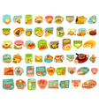 Food Stickers Big Set vector image vector image