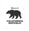 California republic t-shirt graphics vector image