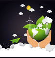 eco and nature concept with green earth vector image