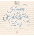 Happy Valentines Day - Lettering EPS 10 vector image