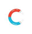 letter c logo like magnet icon vector image