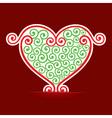 Seamless design make a heart background vector image