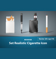 set cigarette electronic icon vector image