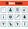Set of born icons vector image