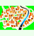 Town plan vector image