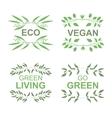 Vegan product labels vector image