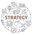 line flat circle strategy vector image