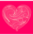 Decorative white heart on pink background vector image