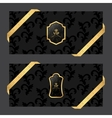 Set of two horizontal banners on a dark background vector image