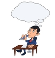 Businessman is thinking 4 vector image