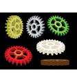 set of gears vector image vector image