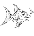 Painted fish vector image vector image