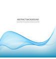 blue abstract waves background vector image