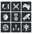 Electronic Sports icons set vector image