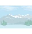 Landscape mountains vector image