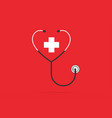 stethoscope in the shape of a heart vector image