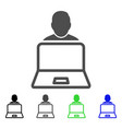 user laptop flat icon vector image