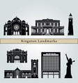 kingston landmarks vector image vector image