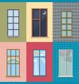 flat exterior elements set vector image