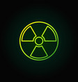 radiation outline green icon vector image