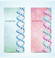dna banners set vector image