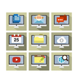 Flat Icon Design Computer vector image