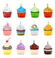 Cupcakes Collection Set vector image vector image