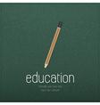 Vintage pencil icon on realistic black vector image