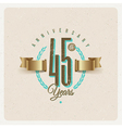 Vintage Anniversary type emblem vector image vector image