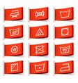 Washing symbols vector image