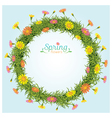 Flowers Spring Season Wreath vector image