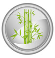button with a bamboo vector vector image vector image