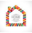 Creative house decoration icon vector image vector image