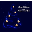 Greeting card with a Merry Christmas vector image