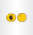 apricot icon symbol sign vector image