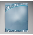 Beautiful Blue Flyer vector image
