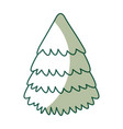 Cute shadow christmas tree vector image