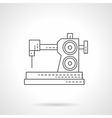 Dressmaking equipment flat thin line icon vector image