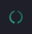 laurel wreath computer symbol vector image