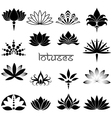 Lotuses icons set vector image