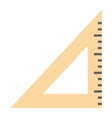 Ruler tool flat icon vector image