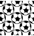 Seamless football or soccer pattern background vector image