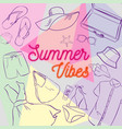 summer clothes and accessories vector image