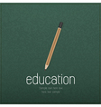 Vintage pencil icon on realistic black vector image