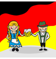 Welcome to Germany people vector image